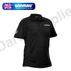 Winmau Wincool Breathable Darts Shirt, Black in 3XL