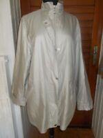Veste manteau imperméable polyamide/polyester beige CLARINA  42 doublé