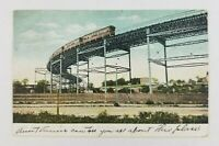 Postcard Elevated Train on Curve West 110th Street New York 1908