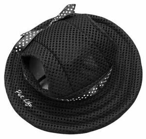 Pet Life 'Sea Spot Sun' UV Protectant Fashion Mesh Brimmed Pet Dog Hat Cap