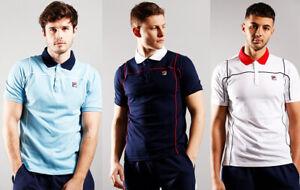 FILA Mens Cotton Short Sleeve Retro Vintage Terrinda Polo Shirt T shirt top Tee