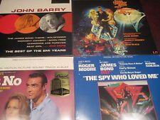 JOHN BARRY James Bond THEME GOLDFINGER + 5 Academy Awards EMI YRS RARE 5 LP Set
