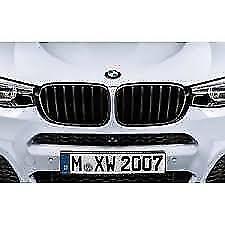 Genuine BMW X3/X4 Series Gloss Black M Performance Kidney F25 F26 51712337762+3