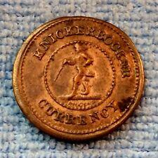 Knickerbocker I O U 1 Cent Civil War Token Nice