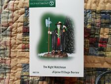 Dept 56 Alpine Village Accessory The Night Watchman Nib (B)