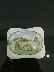 Ceramic trinket box Rainbow