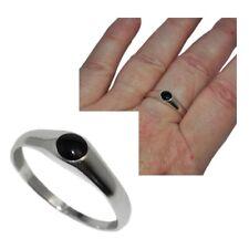Bague homme femme en argent massif 925 anneau Onyx noir T 62 bijou