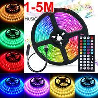 1M-5M Strip Light RGB LED Tape Cabinet Kitchen Ceiling 3528 Remote Lighti