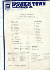 Ipswich Town Reserves v Norwich City 9/3/76