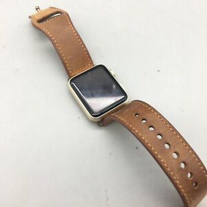Apple Watch Series 7000 42mm w/Leather Strap - Parts/Not Working - Fast Ship C20