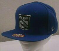 Blue New York Rangers Adjustable Snapback Cap - NHL Zephyr Kid's Baseball Hat