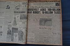 WW2 NEWSPAPER January 11 1943 US Flier Wrecks Nazi Libya Headquarters BNP 8