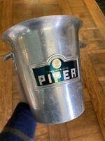 Champagne Piper Sceau Seau à Glace Glaçon Vintage Design Bar Restaurant