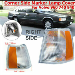 1x Right Side Corner Light Turn Signal Lamp Cover Fit Volvo 740 940 960 1990-95