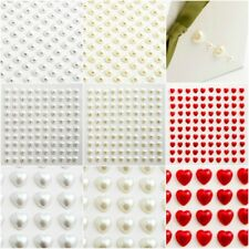 Self Adhesive Pearl Sheets - 4mm 6mm 10mm Gems Stick On Craft Embellishments