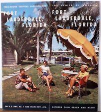1950's Fort Lauderdale Florida vintage Chamber of Commerce travel brochure b