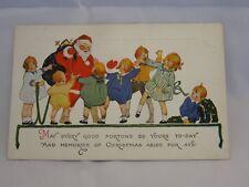 Vintage Santa And Children Christmas Postcard 1910's Era Unused