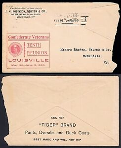 Confederate Veterans 10th Reunion Louisville 1900 Comm'l Advert to McDaniels, KY