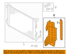 KIA OEM 14-16 Forte Radiator-Air Guide Left 29136A7000