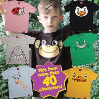 Ani-Mates ® Animal Kids T-Shirt - fun child toddler Gift Birthday Party Present