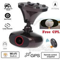 Ddpai M6 Plus HD 1440P WIFI Car Dash Cam GPS Camera Video DVR IOS Android+CPL F1