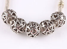 hot 5pcs retro Tibetan silver big hole beads fit Charm European Bracelet B#601