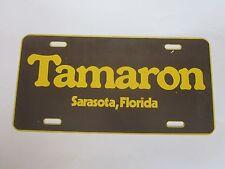 vintage Tamaron Sarasota, Florida Souvenir License Plate