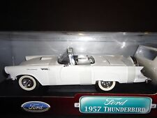 Road Signature Ford Thunderbird Convertible 1957 White 1/18