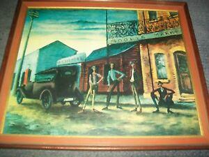 Russell Drysdale Moodys Pub 1941 Oil On Panel Print