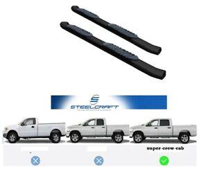 "Pedane ovali 5"" in acciaio nere Steelcrafts Ford F150 Super Crew cab 2009-2014"