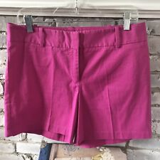 """TALBOTS WOMEN'S TIGHT SHORTS 5"""" FUCHSIA PINK 100% COTTON SIZE 8 - NEW WITH TAG !"""