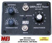 MFJ-9201 QRP Pocket Antenna Tuner 10-80 Meters Handles 100 Watts, BNC Connectors