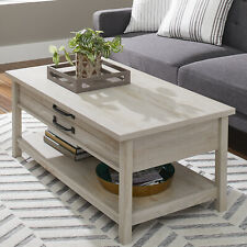 Better Homes & Gardens Modern Farmhouse Lift Top Coffee Table, Rustic White Fini