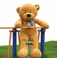 "55in. GIANT HUGE BIG Stuffed Animals ""brown""TEDDY BEAR PLUSH SOFT TOYS DOLL GIFT"