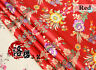 Jacquard Satin Faux Silk Fabric Chinese Begonia Floral Brocade Retro Costume Red