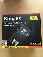 Pixel King Nikon RX Wireless I-TTL Remote Flash Trigger Transmitter+Receiver