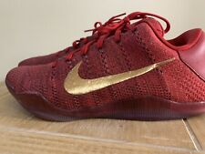 NIKE MENS KOBE 11 ELITE NIKEiD RED & GOLD NYC TRAINERS SHOES SIZE UK 8