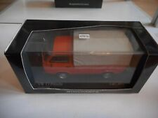 Minichamps VW Volkswagen Transporter T3 Pritsche in Orange on 1:43 in Box