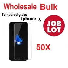 50X Wholesale Job Lot bulk Tempered Glass Screen Protector for iphone X