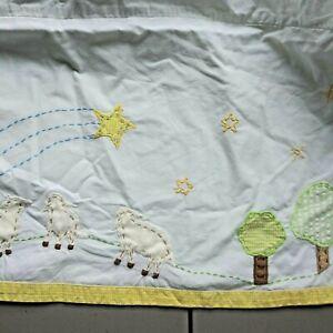 Pottery Barn Kids Twinkle Twinkle Star Lamb Rabbits Baby Boy  Girl Crib Skirt