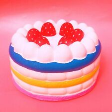 GIANT Kawaii Rainbow Birthday-Cake Squishy Huge Scented Slow Rising Jumbo 25cm