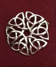 Scottish ART PEWTER ETERNAL INTERLACE Pin, Brooch, New In Box (NIB) Unsigned