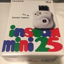 Fuji Instax Mini 25 Instant Film Camera (White) NEW