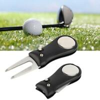2,54 cm Edelstahl Golf Club Ball Putting Green Divot Gabel Repair Tool Rasen