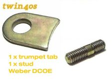 1 x WEBER DCOE 40 TRUMPET TAB/WASHER & STUD Twin 40s co CARBS