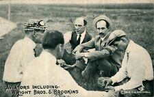 Pioneer Aviation Airplane Pilots Wright Brothers & Walter Brookins 1910 Postcard