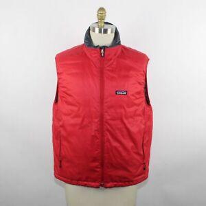 Patagonia Men's Black/Red Nano Puff Reversible Vest Size L
