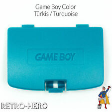 GameBoy Color GBC Akku Batterie Deckel Klappe Battery Game Boy Cover Türkis