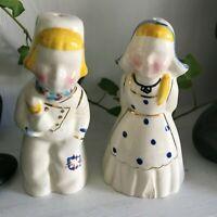 Vintage Salt & Pepper Shakers, BOY AND GIRL , Preloved