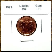 Canada 1999 Small Cent *Double 999* UNC MS Gem BU!!